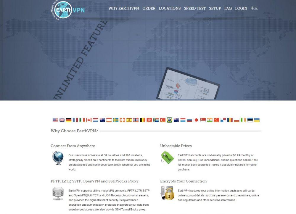 Earth VPN Logging Policy & Details - VPN no Logs